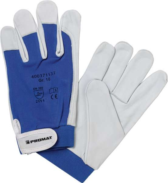 Handschuhe Donau Gr.10 natur/blau