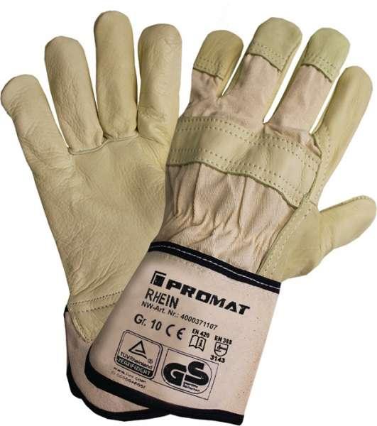 Handschuhe Top Rhein Gr.10 beige Leder
