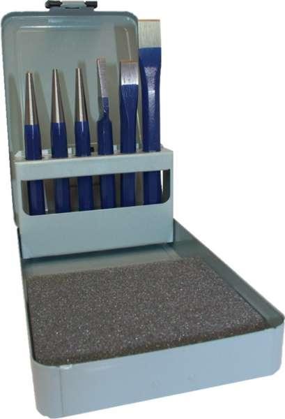 Werkzeugsatz Inh.6tlg.Chrom-Vanadium-Lufthärtestahl lack.Metallkassette PROMAT