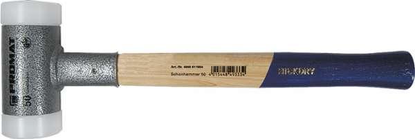 Schonhammer Gesamt-L.365mm Kopf-D.45mm Hickory rückschlagf.hart Nyl. weiß PROMAT