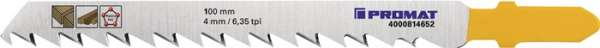 Stichsägeblatt Gesamt-L.100mm Zahnt.4mm S.1,45mm HCS 5 St./Karte PROMAT