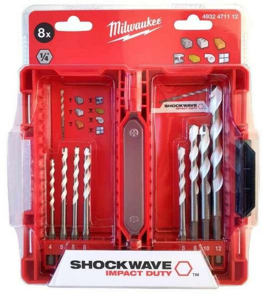 Milwaukee Multimaterial SHOCKWAVE Bohrerset 8-teilig