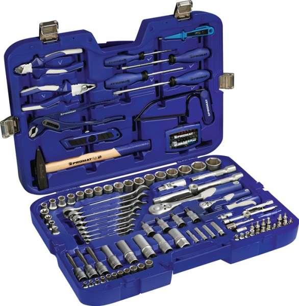 Steckschlüssel-/Handwerkzeugkoffer 131-tlg.m.Ring-Maulschlüsseln PROMAT