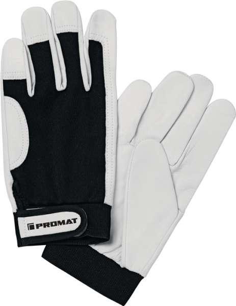 Handschuhe Main Gr.8 schwarz/naturfarben