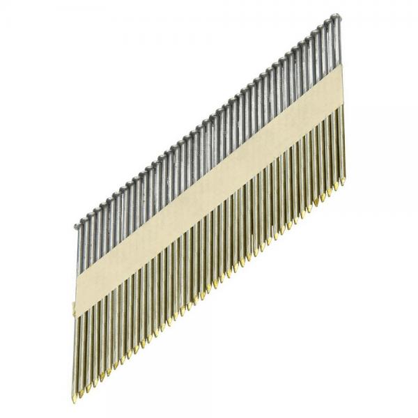 Streifennägel D-Kopf ST 34° 3,1×90 Glatt, Blank