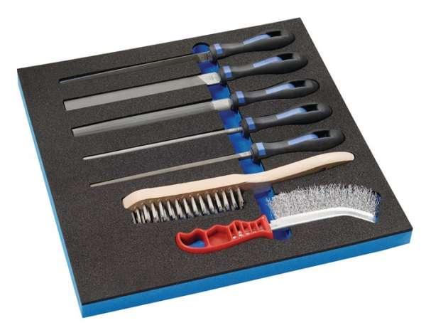 Werkzeugmodul 7-tlg.2/3-Modul Feilen,Drahtbürsten PROMAT