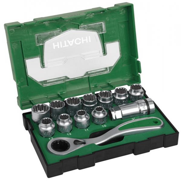 Hikoki Hitachi Steckschlüsseleinsatz-Set 13-tlg. (Box III)
