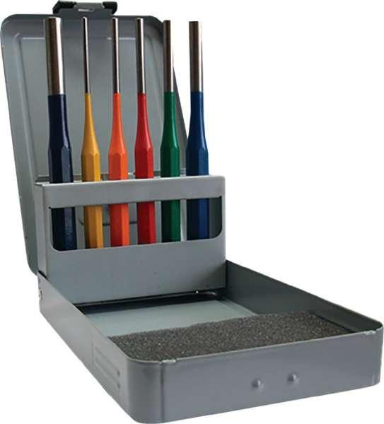 Splintentreibersatz 6tlg.3-4-5-6-8-10 mm mehrfarbig Metallkassette PROMAT