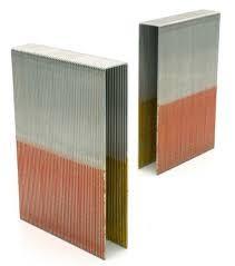 Breitrückenklammer BKS/100 C NK HZ (Stahl/verzinkt (12 μm) geharzt, Meißelspitze)