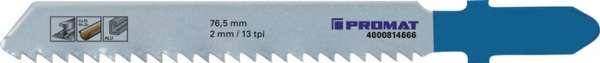 Stichsägeblatt Gesamt-L.76,5mm Zahnt.2mm HSS 5 St./Karte PROMAT