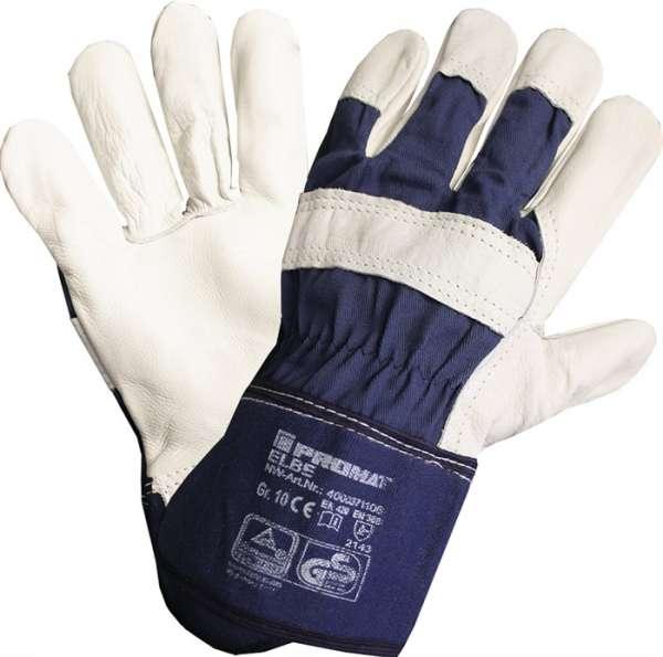 Handschuhe Elbe Gr.10 blau Leder EN 388