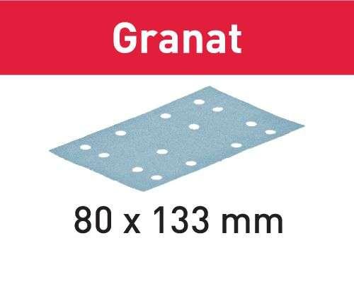 Festool Schleifstreifen STF 80x133 P80 GR/50 Granat Körnung P80