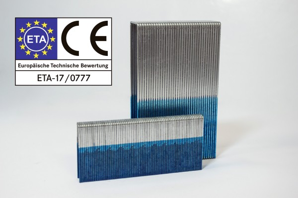 Heftklammer Type Q50 CNKHA 12 µm verzinkt geharzt ETA Diamond coating