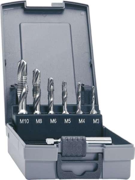 Kombigewindebohrersatz DIN 3126 M3-M10 7tlg.HSSG Ku.-Kassette PROMAT