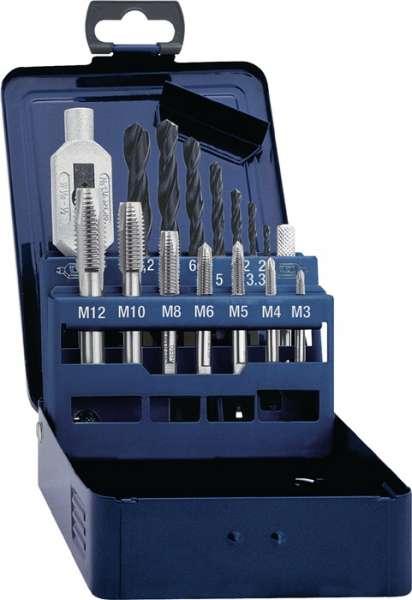 Gewindebohrersatz DIN 352 M3-M12 15tlg.HSS Metallkass.PROMAT