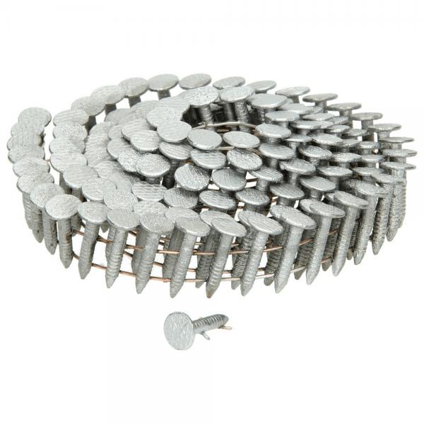 Coil-Dachpappstifte 3,05 x 25 mm, Edelstahl, gerillt
