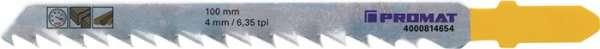 Stichsägeblatt Gesamt-L.100mm Zahnt.4mm S.1,27mm HCS 5 St./Karte PROMAT