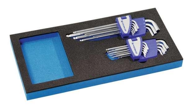 Werkzeugmodul 18-tlg.1/3-Modul SW 1,5-10mm,T9-T45 PROMAT