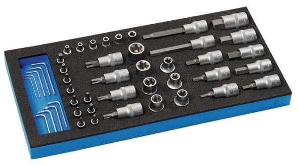 Werkzeugmodul 46-tlg.1/3-Modul Steckschlü.PROMAT