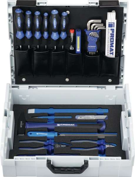 Werkzeugsortiment Univ.44-tlg.L-Boxx PROMAT