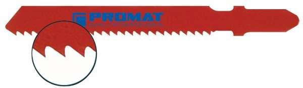 Stichsägeblatt Gesamt-L.76,5mm Zahnt.2mm HSS 25 St./Karte PROMAT