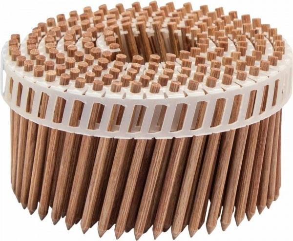Holz-Coilnägel LignoLoc® Holz Buche 4,7x65 mm glatt blank